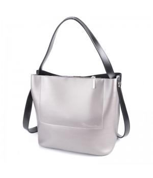 Женская классическая комбинированная сумка
